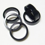 "Brand-X Headsets Spacer Pack 1-1/8"" Black"